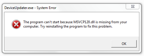 hvordan at slippe af med Msvcp120.dll fejl