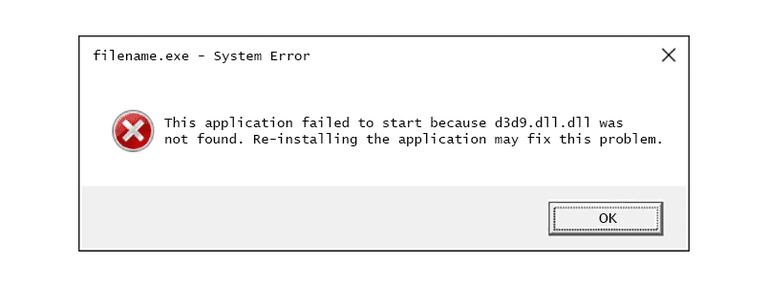 slippe af med d3d9.dll mangler fejl
