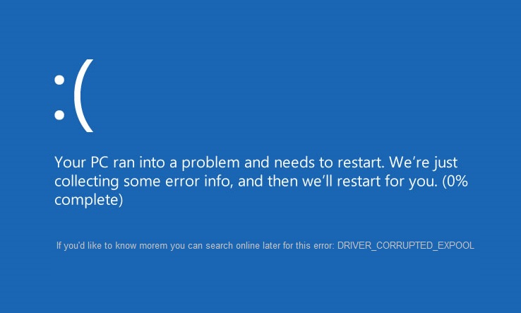 reparer DRIVER_CORRUPTED_EXPOOL Fejl på Windows 10