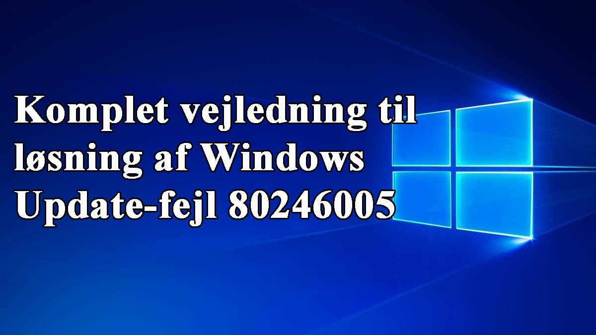 windows opdateringsfejl 80246005